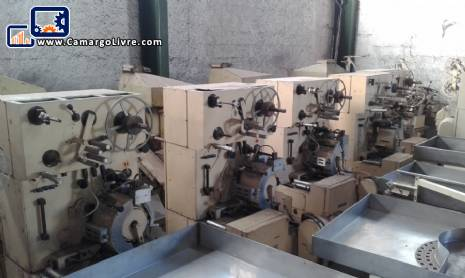 Packaging machines for bullets I brand/EW/MW/Maicon Maras, Otto Hansel, Tavares, Forgrove, Nagema
