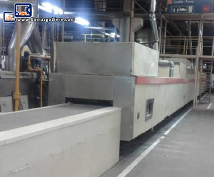 Industrial continuous furnace for crackers cookie gas