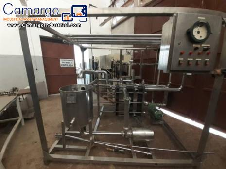 Stainless steel plate pasteurizer 10.000 L West Equipamentos