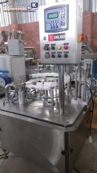 Rotary filling machine for glue in stainless steel Delgo