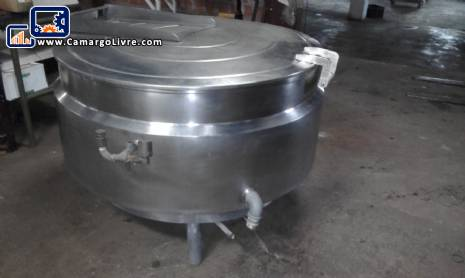 Pot 500 digestor liters in stainless steel