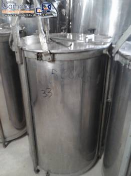 Stainless steel tank for 500 L