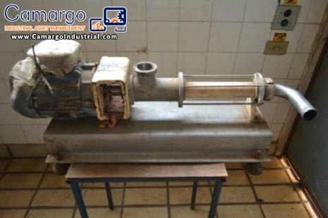 Internal stainless steel helical pump Netzsch