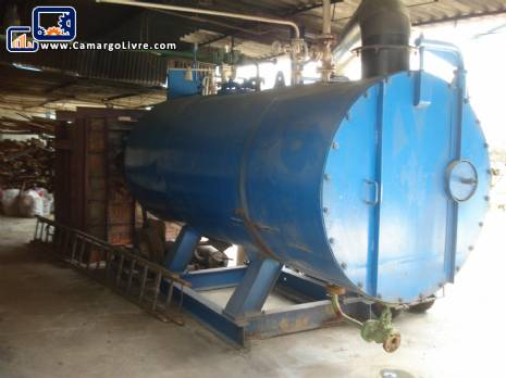 Firetube boiler for wood