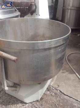 Tacho inox with 300 liter cart