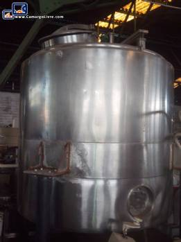 Stainless steel jacketed tank 1000 litres