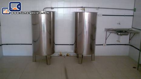 Tanks made of stainless steel